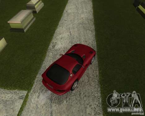 Dodge Viper GTS Coupe para GTA San Andreas vista posterior izquierda