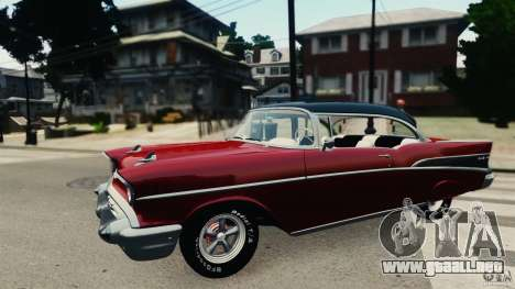 Chevrolet Bel Air Hardtop 1957 Light Tun para GTA 4 left