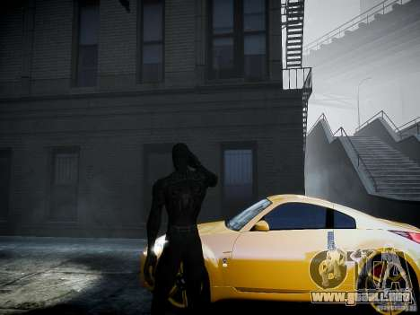 Spider Man Black Suit para GTA 4 segundos de pantalla