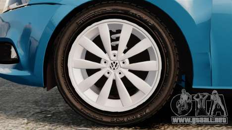 Volkswagen Voyage G6 2013 para GTA 4 vista hacia atrás