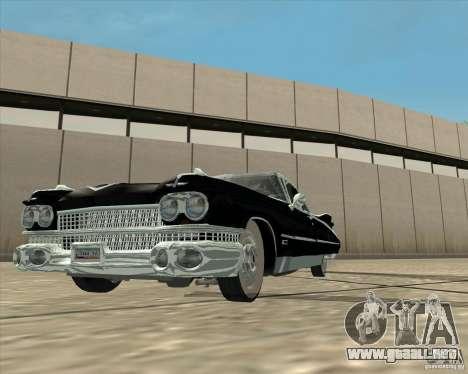 Cadillac Eldorado 1959 para la visión correcta GTA San Andreas