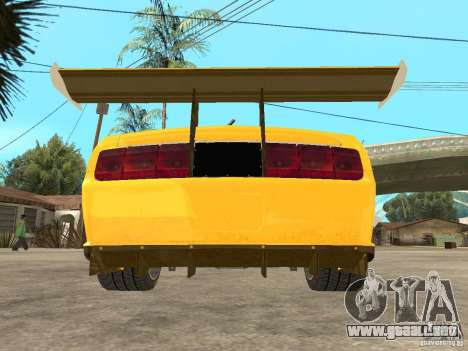 Ford Mustang GT-R para GTA San Andreas vista hacia atrás