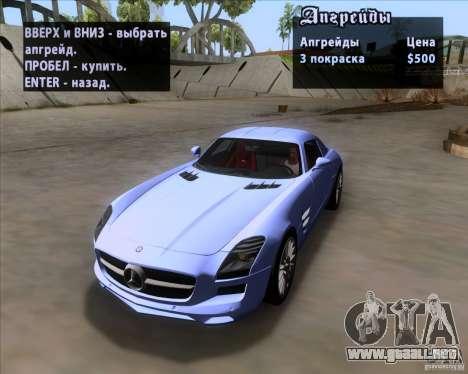 Mercedes-Benz SLS AMG V12 TT Black Revel para la vista superior GTA San Andreas