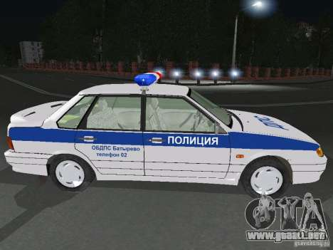 VAZ 2115 policía DPS para GTA San Andreas left