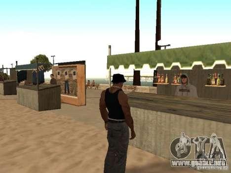 Mercado en la playa para GTA San Andreas sexta pantalla