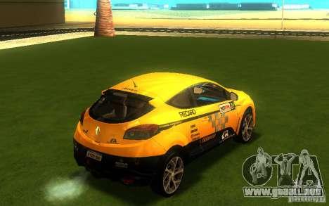 Renault Megane RS para GTA San Andreas vista posterior izquierda