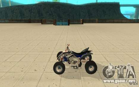 Yamaha YFZ 450 SuperCross Skin 3 para GTA San Andreas left