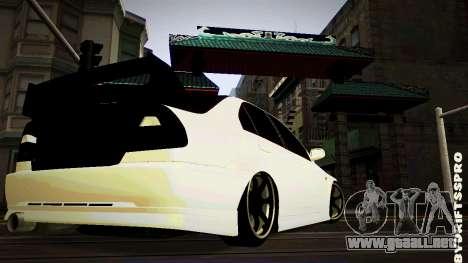 Mitsubishi Lancer Evolution 6 para GTA San Andreas vista posterior izquierda