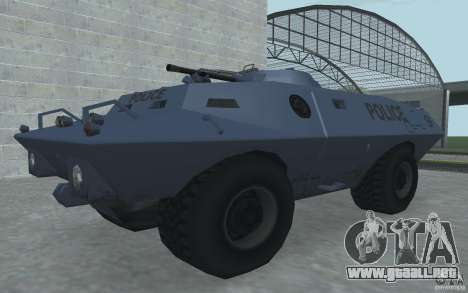 Swatvan con ametralladora para GTA San Andreas segunda pantalla