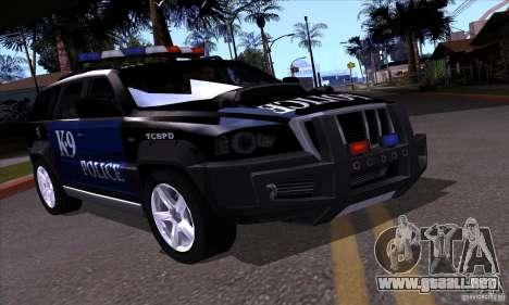 NFS Undercover Police SUV para la visión correcta GTA San Andreas