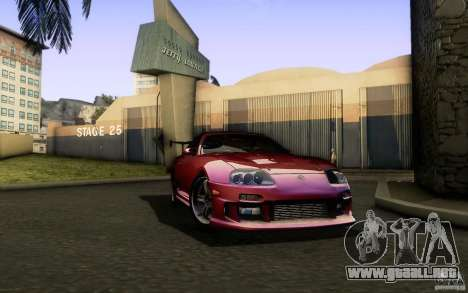 Toyota Supra Top Secret para GTA San Andreas vista hacia atrás