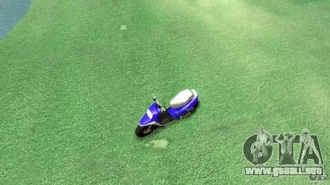 Yamaha MBK Booster para GTA 4 visión correcta