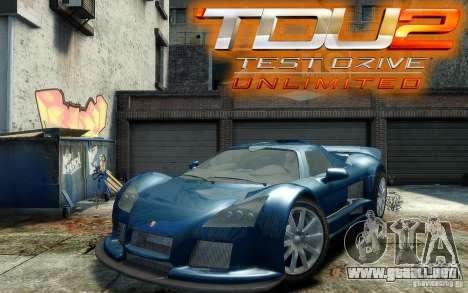 Gumpert Apollo Sport para GTA 4 vista hacia atrás