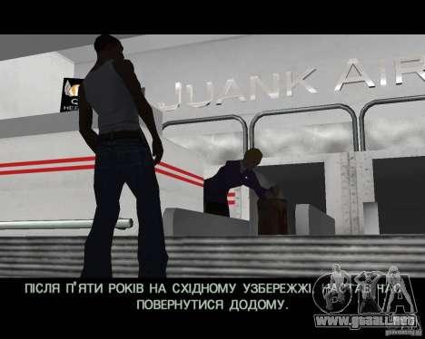 Ukraïnizator 2.0 para GTA San Andreas sucesivamente de pantalla