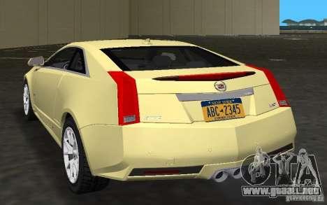 Cadillac CTS-V Coupe para GTA Vice City visión correcta