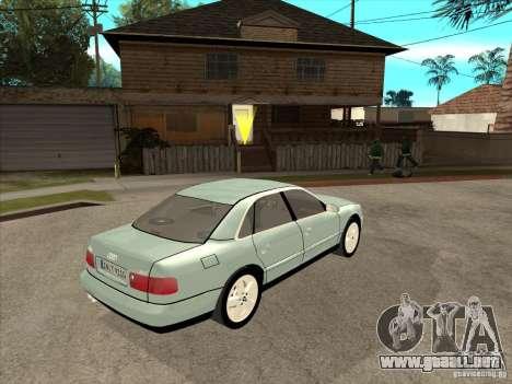Audi A8 Long 6.0 W12 2002 para GTA San Andreas vista hacia atrás