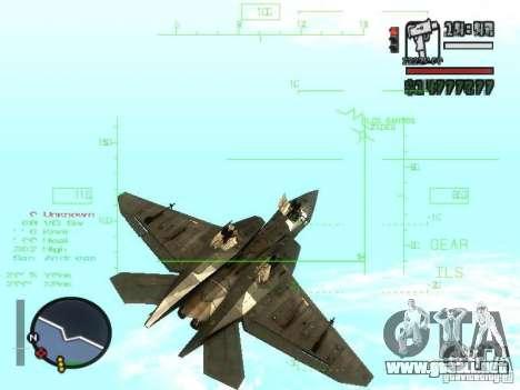 Xa-20 razorback para visión interna GTA San Andreas