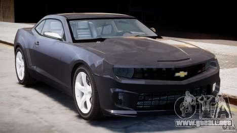 Chevrolet Camaro SS 2009 v2.0 para GTA 4 vista lateral