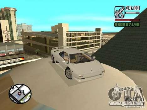 Lamborghini Diablo VT 1995 V2.0 para GTA San Andreas vista hacia atrás