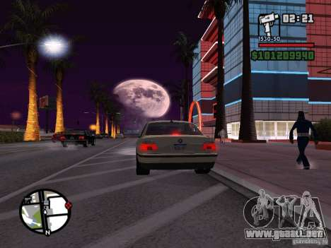 BMW 750i (e38) para GTA San Andreas left