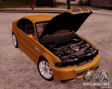 BMW M3 E46 stock para la vista superior GTA San Andreas