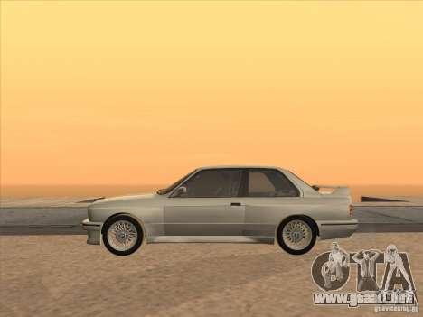 BMW M3 E30 1991 para GTA San Andreas vista hacia atrás