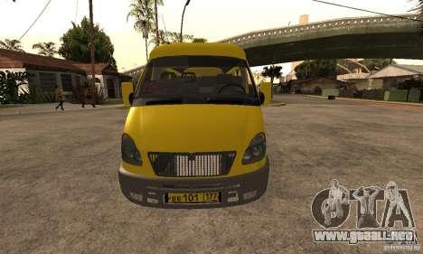 Minibús Gazelle 32213 Novosibirsk para GTA San Andreas left