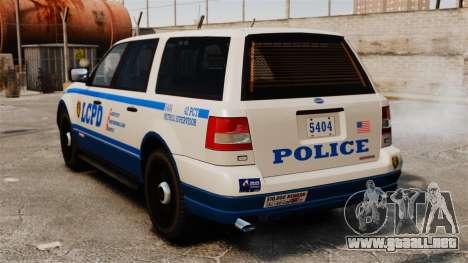 Policía Landstalker ELS para GTA 4 Vista posterior izquierda