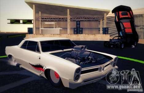 Pontiac GTO Drag Shark para visión interna GTA San Andreas