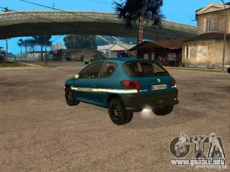 Peugeot 206 Police para GTA San Andreas left