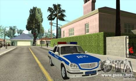 GAZ 31105 Volga DPS para GTA San Andreas vista hacia atrás