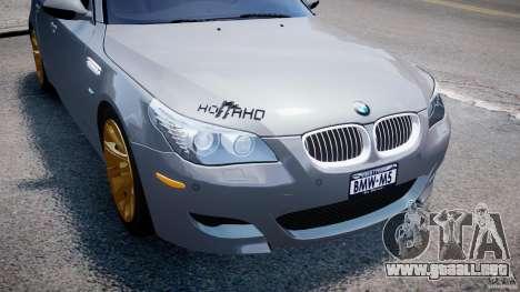 BMW M5 E60 2009 para GTA 4 ruedas