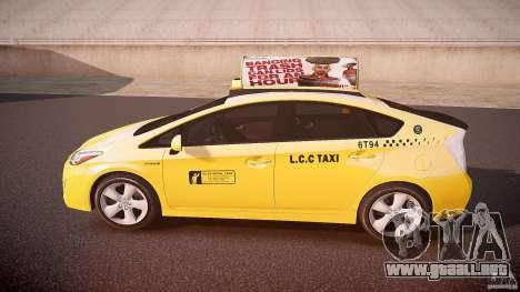 Toyota Prius LCC Taxi 2011 para GTA 4 left