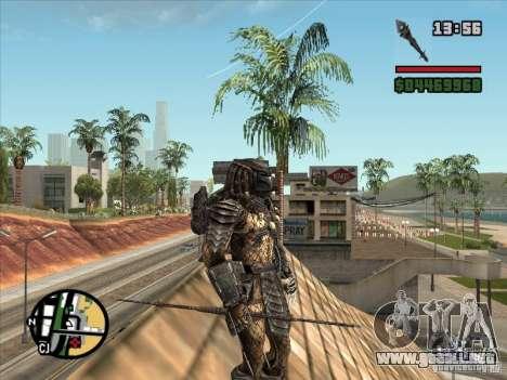 La lanza de Predator para GTA San Andreas sucesivamente de pantalla