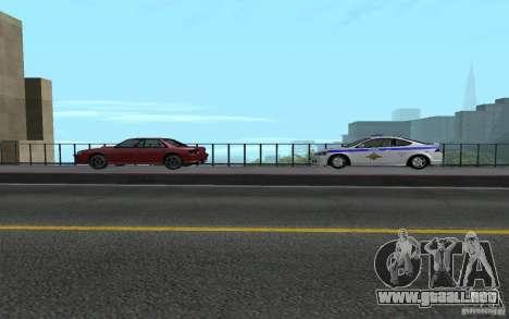 Policía en el puente de San Fiero_v. 2 para GTA San Andreas sexta pantalla