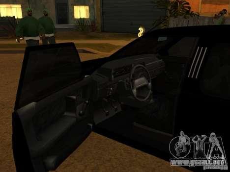 VAZ 21099 Limousine para la visión correcta GTA San Andreas
