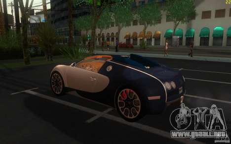 Bugatti Veyron 16.4 Grand Sport Sang Bleu para GTA San Andreas left
