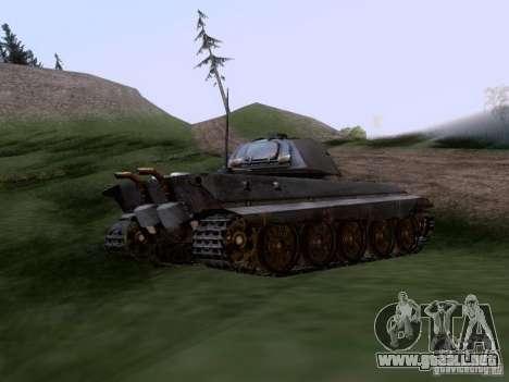 PZ VII Tigre II tigre real VIB para GTA San Andreas vista posterior izquierda