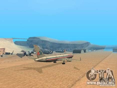 Boeing 767-300 American Airlines para GTA San Andreas vista posterior izquierda