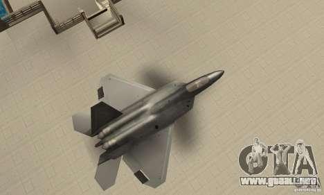 F-22 Black para la visión correcta GTA San Andreas