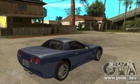 Chevrolet Corvette 5 para las ruedas de GTA San Andreas