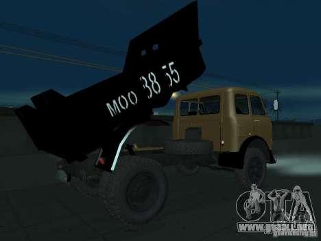 Camión MAZ 503a para la visión correcta GTA San Andreas