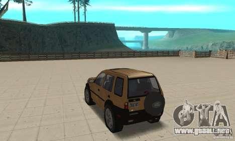 Land Rover Freelander KV6 para GTA San Andreas vista posterior izquierda