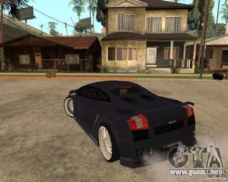 Lamborghini Gallardo para la vista superior GTA San Andreas