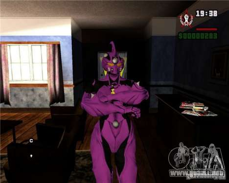 Guyver-I Demo para GTA San Andreas sucesivamente de pantalla