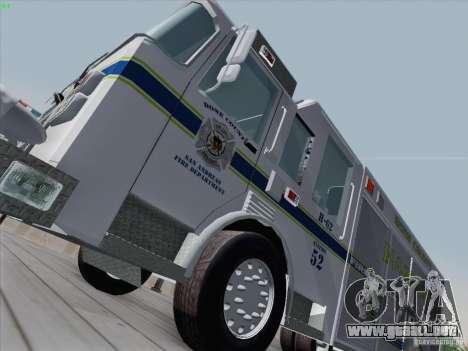 Pierce Fire Rescues. Bone County Hazmat para GTA San Andreas left