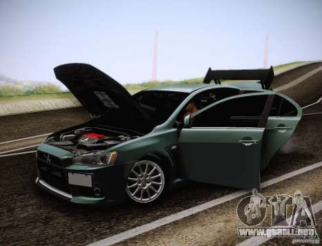 Mitsubishi Lancer Evolution Drift Edition para vista lateral GTA San Andreas