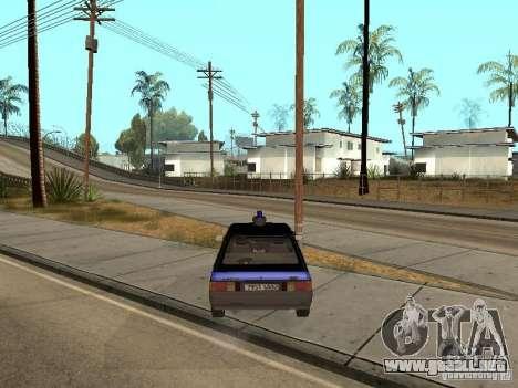 Patrulla AZLK 21418 para GTA San Andreas vista posterior izquierda