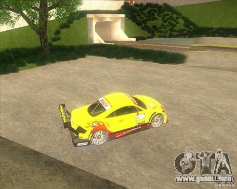 Audi TTR DTM racing car para GTA San Andreas left