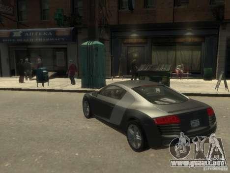 Audi R8 NFS Shift para GTA 4 Vista posterior izquierda